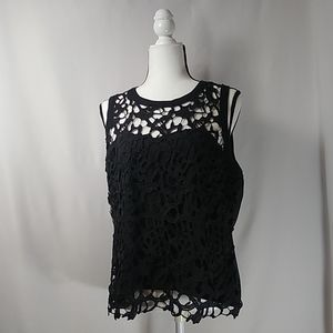 Valerie Stevens Women's Crochet Sleeveless Top